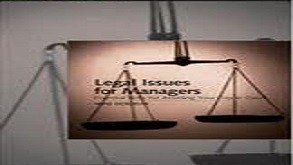 Legal Issues For Managers