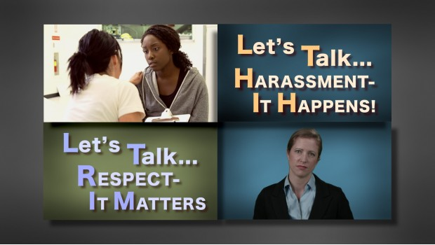 Let's Talk . . . Harassment & Respect training video DVD, video streaming and elearning for purchase.